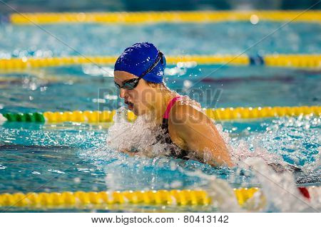 Milan - December  23:  Giulia  Verona, Breaststroke  Currently Italian Champion,   Performing  In  S