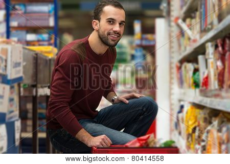 Man At Groceries Store
