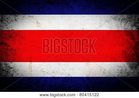 Grunge Costa Rica flag