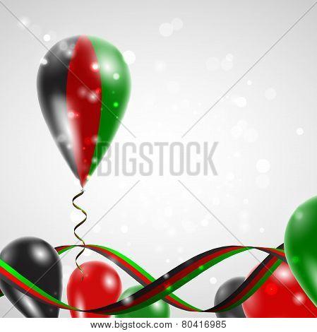 Flag of Afghanistan on balloon