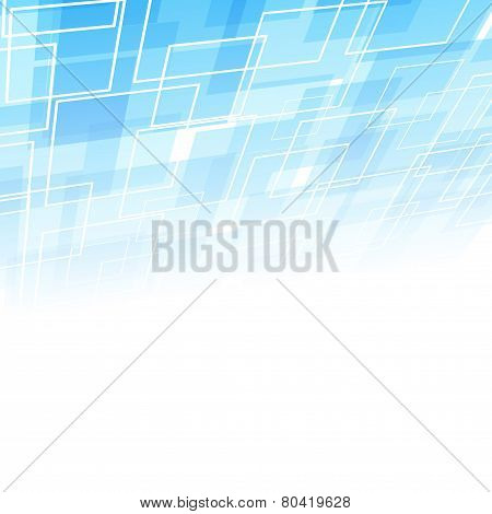 Abstract Square Geometrical Background Template