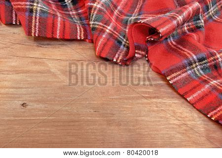Traditional Scottish Red Tartan  Woolen Soft And Worm Scarf