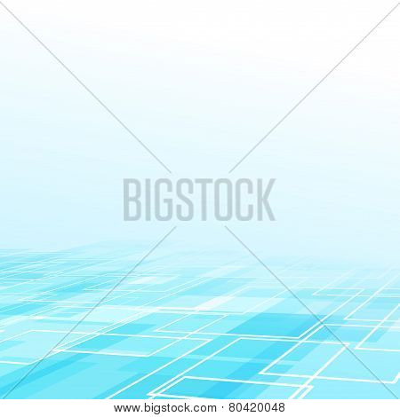 Perspective Square Element Structure Background