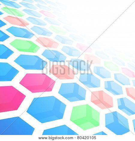 Perspective Hexagon Abstract Tile Background