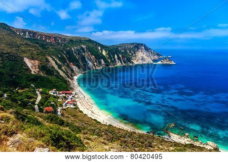 Petani beach in Greece
