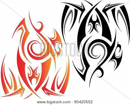 Fire Flames Tattoo