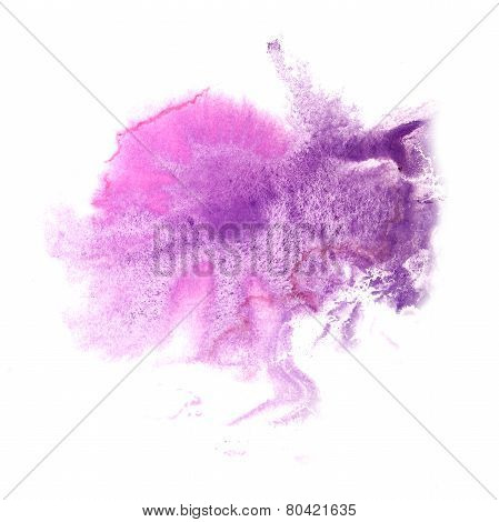 abstract Lilac, pink drawing stroke ink watercolor brush water c