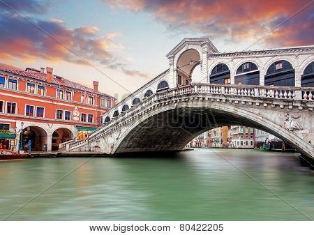 Venice At Evening, Italy