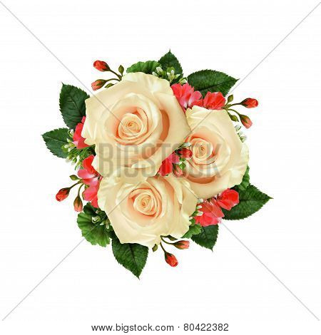 White Rose Flowers Bouquet