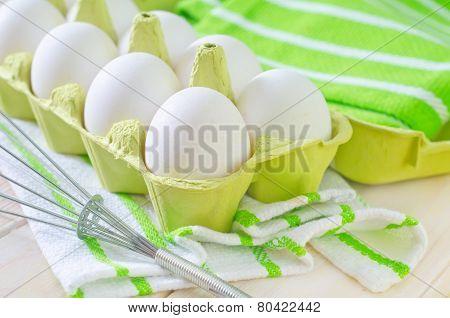 raw white eggs