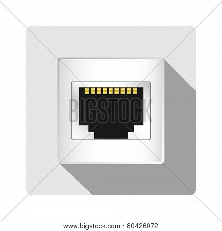Vector Network Socket Icon