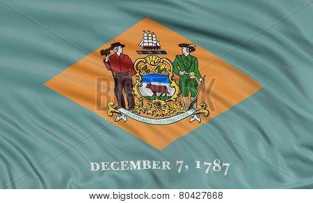 3D Delaware Flag