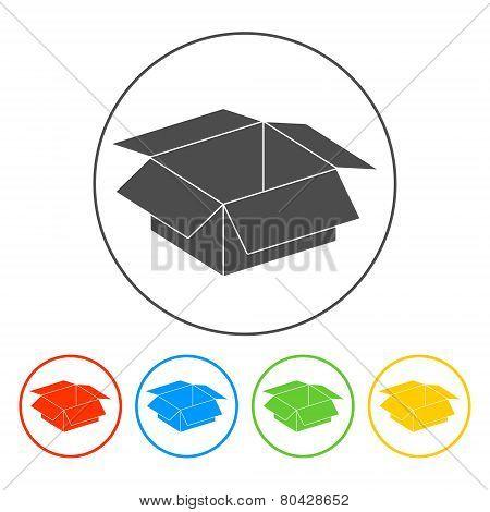 Box Illustration. Flat Design Style