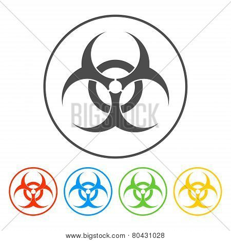 Bio Hazard Icon - Vector Web Illustration, Easy Paste To Any Background
