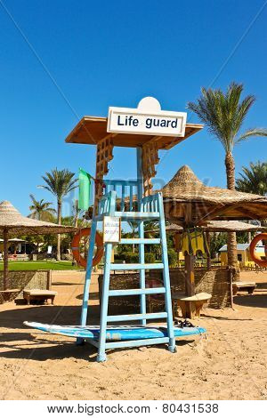 A Seat For Lifeguard At The Beach