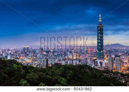 Taipei City View at Night