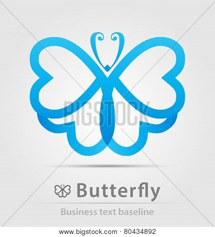 Butterfly Business Icon
