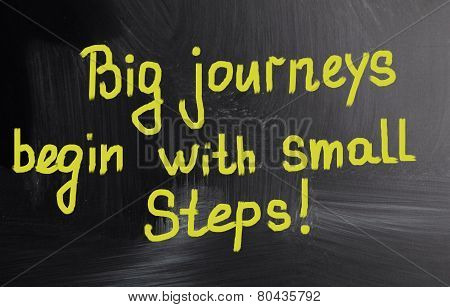 Big Journeys Begin With Small Steps!
