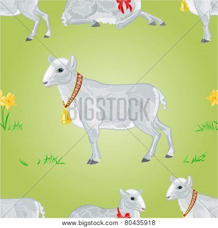 Easter Lamb Seamless Texture Vector
