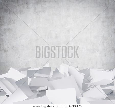 Blank Papers Heap