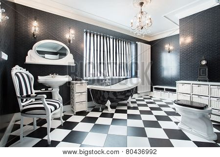 White And Black Modern Bathroom