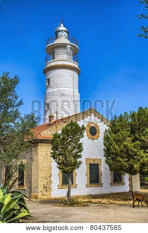 Lighthouse at Port de Soller in Majorca