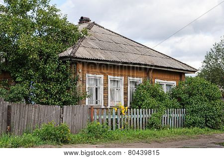 Old Wooden Country House With Slate Roof