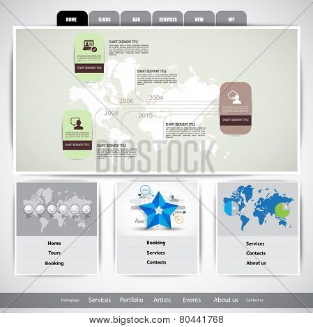Vector illustration of business web