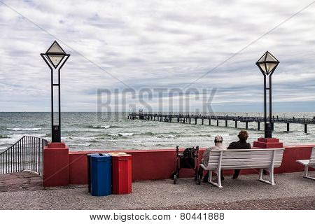 View To The Pier In Binz