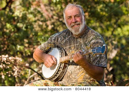 Happy Banjo Player