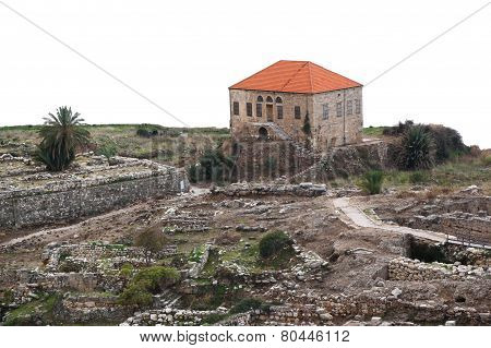 Byblos archeology on a white background