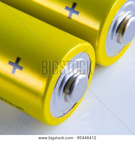 alkaline batteries macro