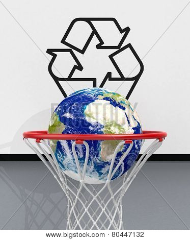 Concept Of Ecology And Recycling - Elements of this image furnished by NASA