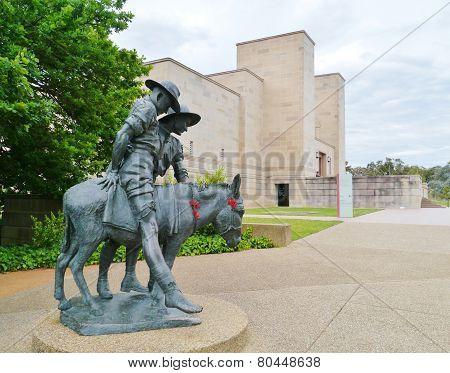 Statue in Canberra in Australia