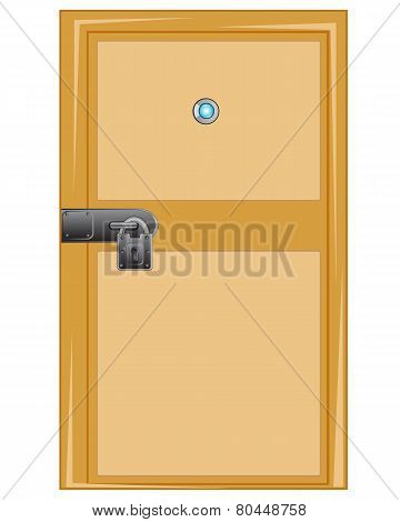 Wooden door with external lock