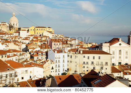 view from Alfama, lisbon
