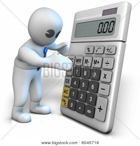 Calculator Shows Zeros