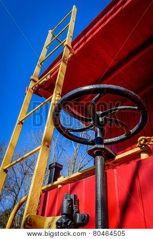 Caboose Ladder And Brake Wheel