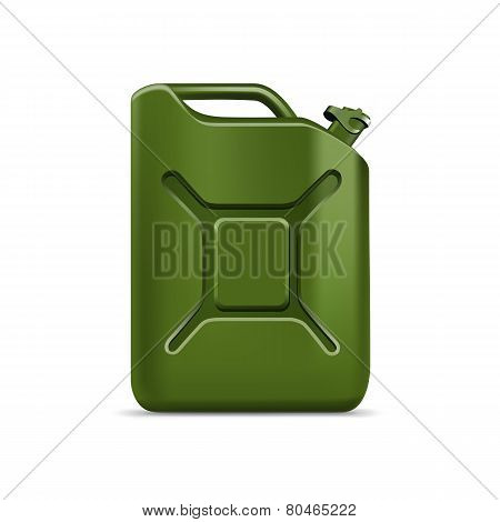 Blank Green Jerrycan Canister Gallon Oil Cleanser Detergent Abstergent Isolated