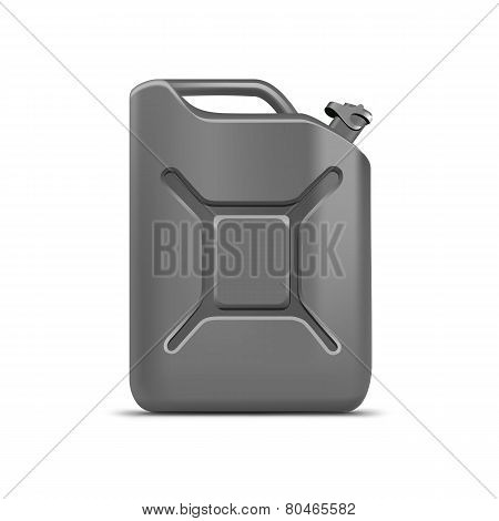 Blank Gray Jerrycan Canister Gallon Oil Cleanser Detergent Abstergent Isolated