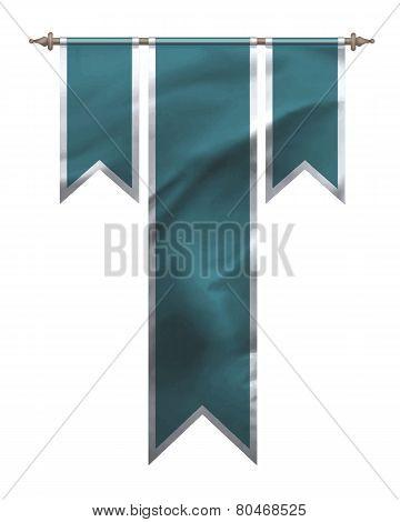 Blue Triple Flag