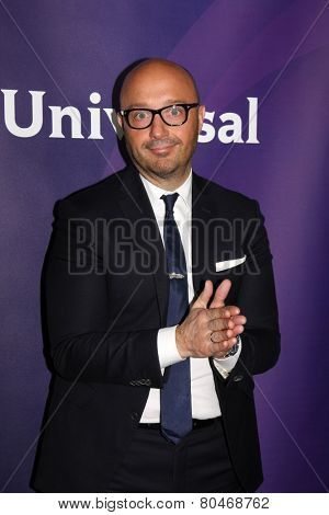 LOS ANGELES - JAN 15:  Joe Bastianich at the NBCUniversal Cable TCA Winter 2015 at a The Langham Huntington Hotel on January 15, 2015 in Pasadena, CA