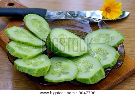 Appetizing Young Green Cucumber