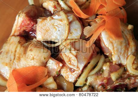 Pieces Of Raw Chicken