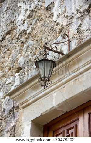 Lamp above the door