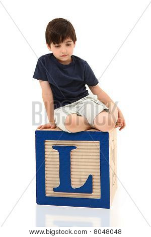 Sad Boy On Letter L