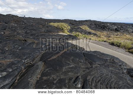 Lava Over The Road - End