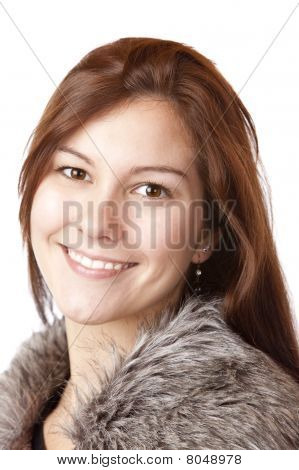 Portrait of young beautiful happy woman.