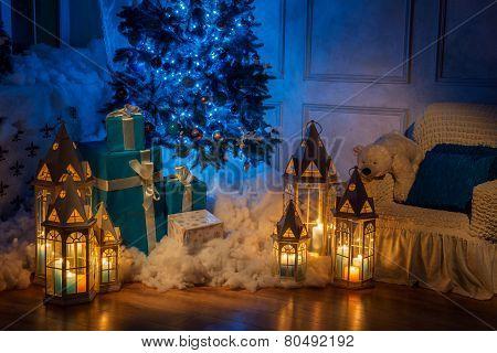 Christmas tree interior studio shot