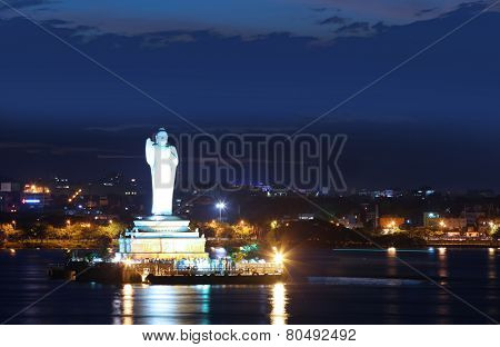 HYDERABAD INDIA - September 1:Buddha Statue of Hyderabad is a tallest monolithic statue in the world, On September 1, 2012 Hyderabad, India.